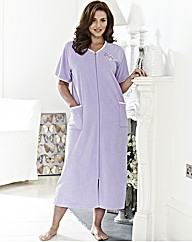Pretty Secrets Zip Velour Gown L50in