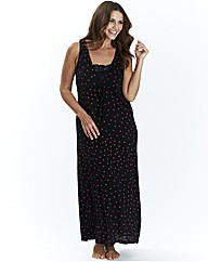 Pretty Secrets Maxi Chemise Black Spot