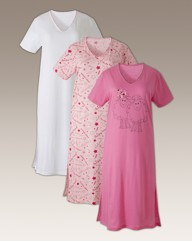 Shapely Figures Pack of 3 Nightdress L48