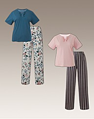 Shapely Figures Pack of 2 Pyjamas L28