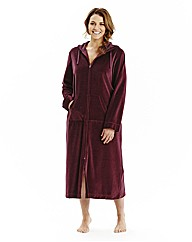 Pretty Secrets Velour Zip Gown L50
