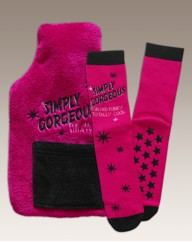 Simply Be Water Bottle and SockSet