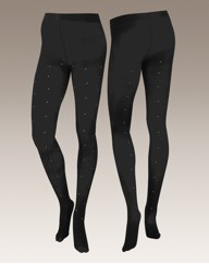 Viva La Diva Pack of 2 Diamante Tights