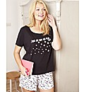 Pretty Secrets Pack of 2 Shortie Pyjama