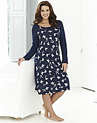 Pretty Secrets Printed Nightdress L38
