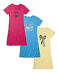 Pretty Secrets Pack of 3 NightdressesL48