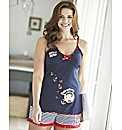 Betty Boop Hello Sailor Shortie Set