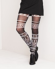 Naturally Close Fair Isle Tights
