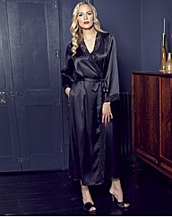 Splendour Satin Wrap Gown L52