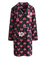Minnie Mouse Hooded Fleece Nightshirt L