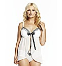 Naturally Close Diamante Babydoll Set