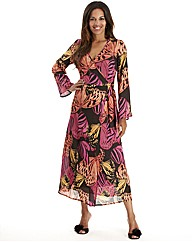 Joanna Hope Luxury Wrap Gown Coral Print