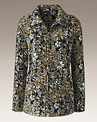 Printed Fleece Jacket In A Floral Design
