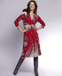Print Dress Length 41in