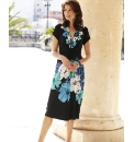 Dress With Floral Border Length 43in