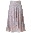 H&O Fully Lined Print Skirt Length 32in
