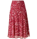 Spot Print Georgette Skirt Length 29in
