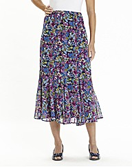 Nightingales Ditsy Print Skirt L 32in