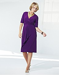 Nightingales Drape Front Dress L39in