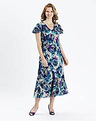 H&O Print Dress Length 48in