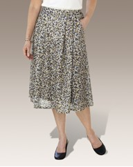 Printed Skirt Length 27in