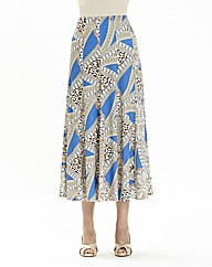 Nightingales Print Skirt L32in