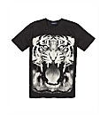 Label J Tiger Print T-Shirt Long