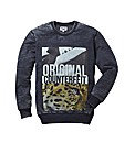 Label J Burnout Crew Neck Jumper Reg