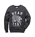 Label J Bear Crew Neck Jumper Reg
