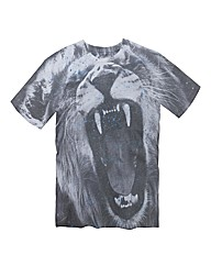 Label J Animal Face Print T-Shirt Reg