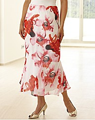 Petite Floral Printed Skirt Length 29in