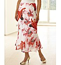 Floral Printed Skirt Length 32in
