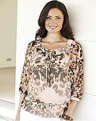Printed Blouse And Camisole