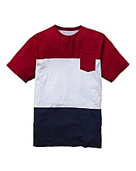 Label J Colour Block T-Shirt Reg