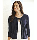Cardigan With Jewel Trim