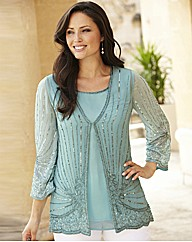 Beaded Blouse and Camisole