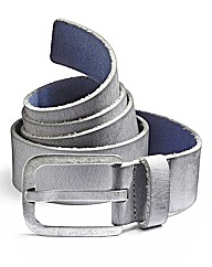 Label J Blue Leather Belt