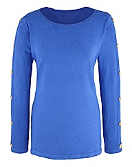 Nightingales Button Sleeve Jumper