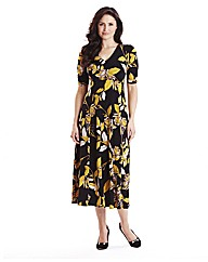 Printed Jersey Dress Length 48in