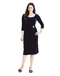 Velour Dress With Diamante Trim