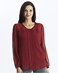 Blouse with Pleat Detail