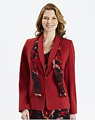 Tailored Jacket With Print Scarf
