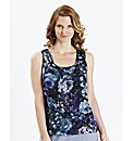 H&O Sleeveless Printed Blouse