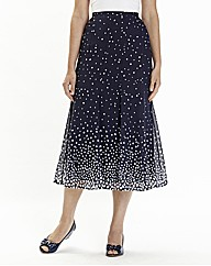 Nightingales Spot Print Skirt L32in