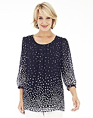 Nightingales Spot Print Blouse