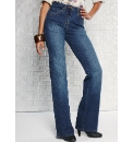 Petite Stretch Bootcut Jeans Length 28in