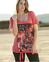 Graphic Coral Print T-Shirt