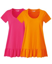 Pack of 2 Frill Hem Tunics
