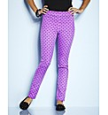 Petite Magenta Spot Print Jeggings