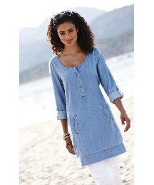 Denim Longline Tunic